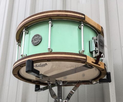 DISTRESSED SURF GREEN - MAPLE/WALNUT HOOPS
